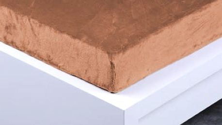 XPOSE ® Prostěradlo mikroflanel Exclusive dvoulůžko - hnědá 180x200 cm