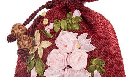 Dárkový pytlík s růžičky 14 x 11 cm
