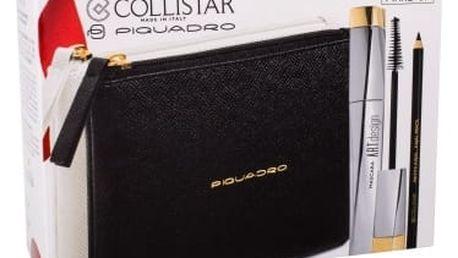 Collistar Art Design dárková kazeta pro ženy řasenka 12 ml + kajalová tužka na oči 1,5 g Black + kosmetická taška