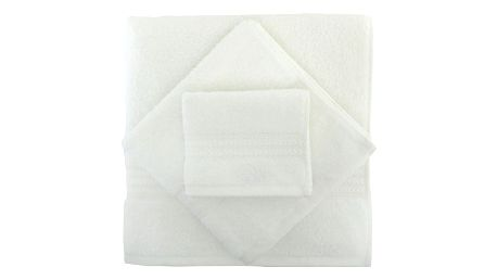 Set 3 bílých ručníků a osušky Rainbow - doprava zdarma!