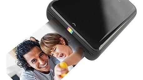 Fototiskárna Polaroid ZIP pro Android / iOS, bezdrátová, mobilní (POLMP01B) černá + DOPRAVA ZDARMA