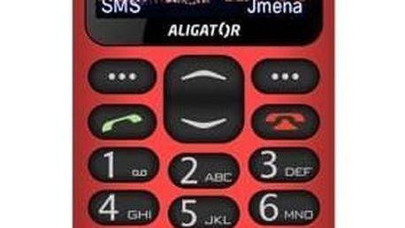 Mobilní telefon Aligator A880 GPS Senior (A880RD) červený