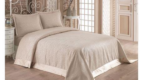 Set 2 bavlněných povlaků na polštář a přehozu přes postel Santana, 240x260 cm - doprava zdarma!