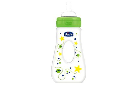 CHICCO Láhev Well-Being bez BPA silikonový dudlík rychlý průtok slza 240 ml