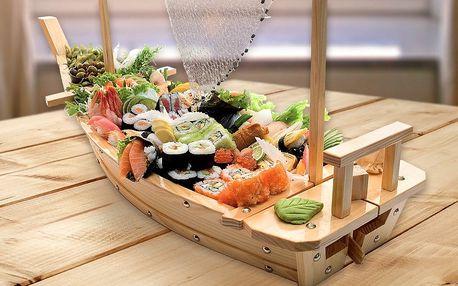 Sushi menu či sushi loď s dobrotami až pro 5 os.