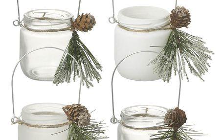 Sada 4 svícnů Parlane Pine - doprava zdarma!