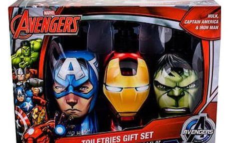Marvel Avengers sprchový gel dárková sada U - sprchový gel Hulk 300 ml + šampon Iron Man 300 ml + tekuté mýdlo Captain America 300 ml