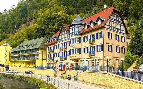 3denní pobyt pro dva s polopenzí, vínem a slevami v Hřensku v hotelu Praha****