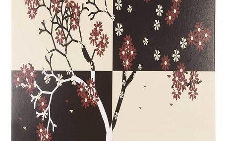 Obraz na stěnu - Strom a červený květy