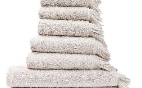 Set 8 krémových bavlněných ručníků a osušek Casa Di Bassi Bath - doprava zdarma!