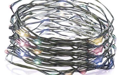 Vánoční osvětlení EMOS 150 LED, 15m, řetěz (miniaturní), vícebarevná, časovač, i venkovní použití (1534192000)