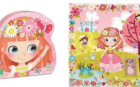 VILAC Dřevěné puzzle 54 ks – květinová princezna