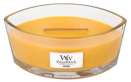 WoodWick Vonná svíčka WoodWick - Podzim 454 g, oranžová barva, sklo, dřevo
