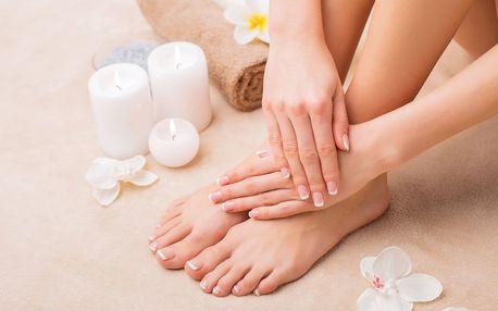 Balíček péče o nehty: pedikúra a manikúra s lakováním či modeláž nehtů