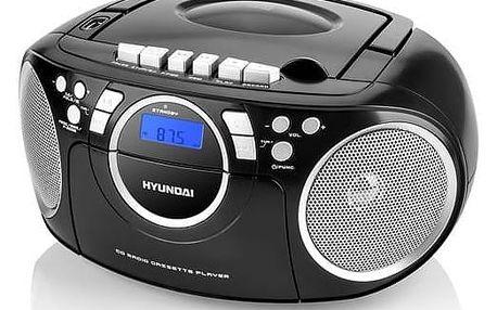 Radiopřijímač s CD Hyundai TRC 788 AU3BS černý/stříbrný