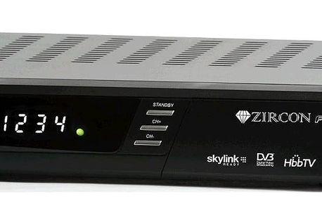 Satelitní přijímač Zircon FunBox Skylink ready s HbbTV a Portal funkcemi
