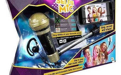 Selfie mikrofon ADC Blackfire černý černý + Fidget Spinner Esperanza bílý v hodnotě 39 Kč + Doprava zdarma