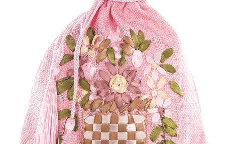 Dárkový pytlík s květy 22 x 18 cm