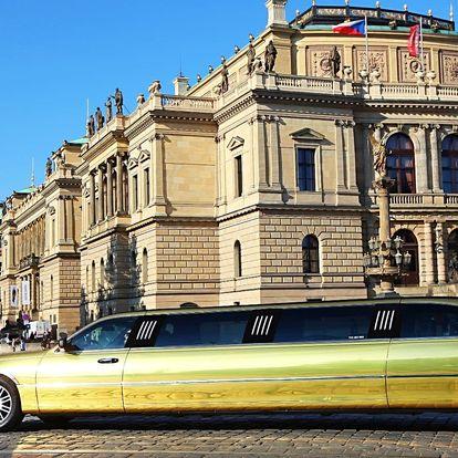 Zážitková jízda ve zlaté limuzíně až pro 8 osob