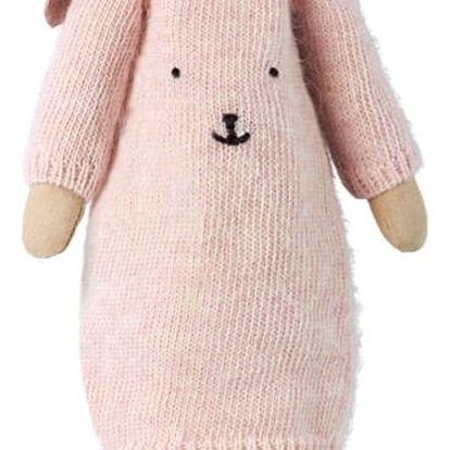 Maileg Králičí slečna Bella - Medium, růžová barva, textil