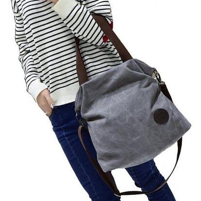 Prostorná plátěná kabelka