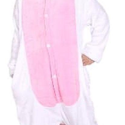 Originální dětský overal Kigurumi - Jednorožec bílo/růžový