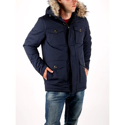 Bunda Superdry MILITARY EVEREST PARKA Modrá