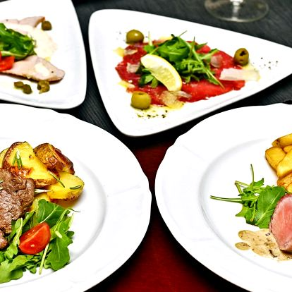Degustační menu v středomořské restauraci