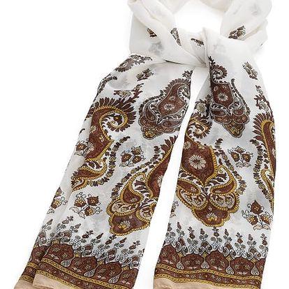Dámský hnědý šátek Ara 31268