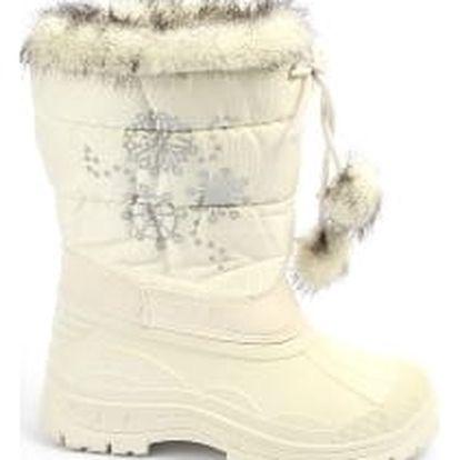Krásné dětské sněhule s vločkou bílé