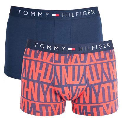 2PACK pánské boxerky Tommy Hilfiger trunk logo poppy red M