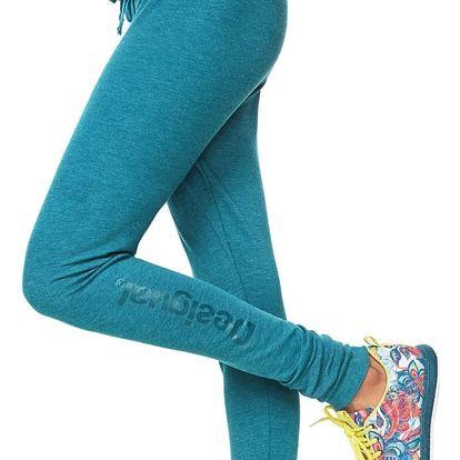 Desigual tmavě zelené dámské sportovní kalhoty Essential