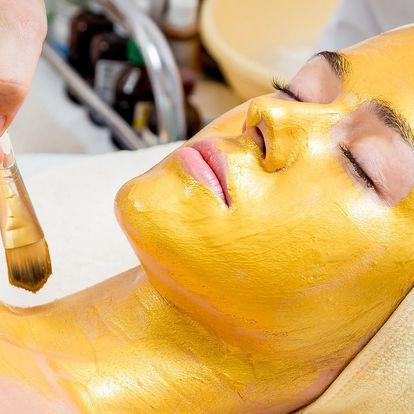 Luxusní lymfatická masáž se zábalem ze zlata