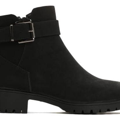 Dámské černé matné kotníkové boty Tiffany 038