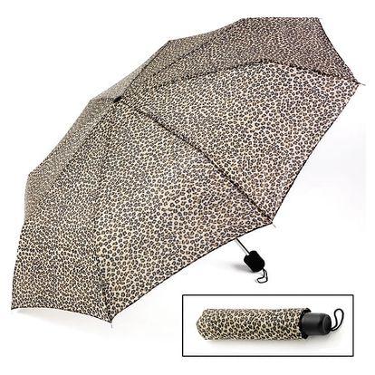Leopardí skládací deštník Ulla 29403
