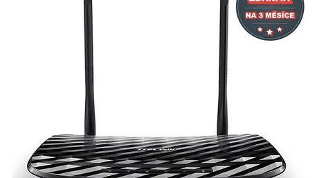 Router TP-Link Archer C2 AC750 + IP TV na 3 měsíce ZDARMA (Archer C2) černý