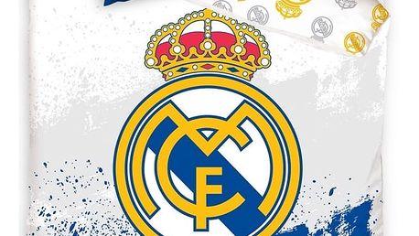 BedTex Bavlněné povlečení Real Madrid RMFC, 160 x 200 cm, 70 x 80 cm