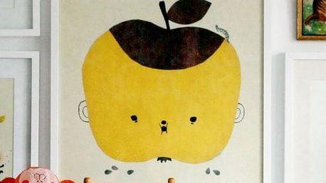 Fine Little Day Plakát Apple Papple 50x70 cm, žlutá barva, papír