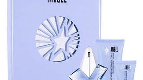 Thierry Mugler Angel EDP dárková sada Naplnitelný W - EDP 25 ml + tělové mléko 100 ml + sprchový gel 30 ml + tělový krém 15 ml