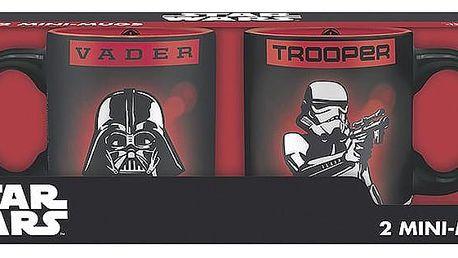 Herní předměty ABYstyle Star Wars - Vader a Trooper hrnečky 110ml 2 ks