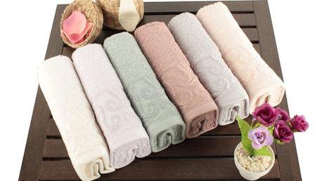 Sada 6 bavlněných ručníků Sal, 30x50cm - doprava zdarma!