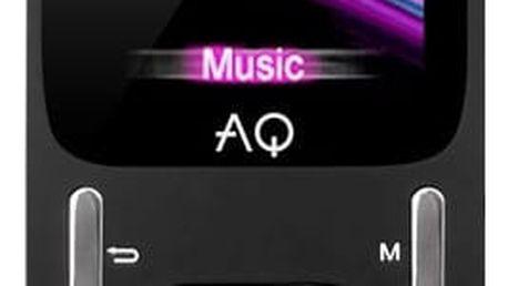 MP3 přehrávač AQ MP02BK (6mp02bk) černý