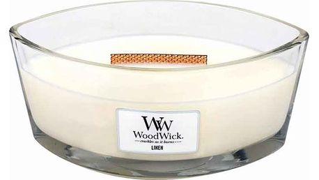 Svíčka s vůní čerstvě vypraného prádla WoodWick Čisté prádlo, dobahoření80hodin - doprava zdarma!