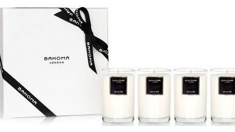 Dárková sada 4 vonných svíček s vůní mořského vánku Bahoma - doprava zdarma!