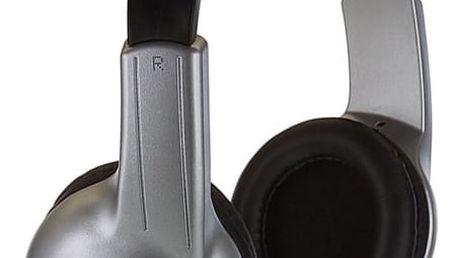 Sluchátka Koss Stratus (doživotní záruka) černá/stříbrná