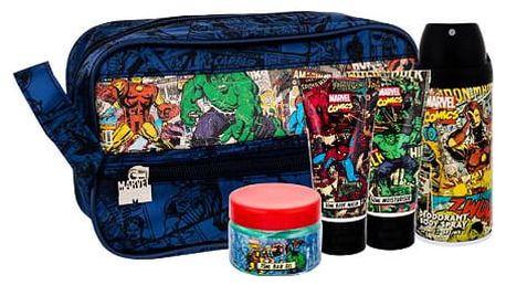 Marvel Comics Hero deodorant dárková sada Deospray U - deodorant 150 ml + sprchový gel 50 ml + hydratační krém 50 ml + gel na vlasy 75 ml + kosmetická taška