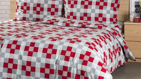 4Home Flanelové povlečení Checker, 140 x 200 cm, 70 x 90 cm