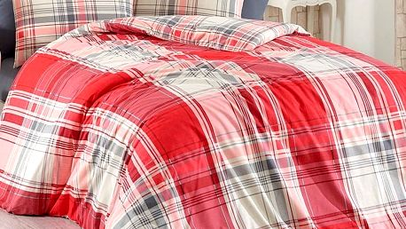 BedTex Bavlněné povlečení Alexia červená, 140 x 200 cm, 70 x 90 cm