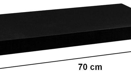 STILISTA VOLATO 31051 Nástěnná police - matná černá 70 cm