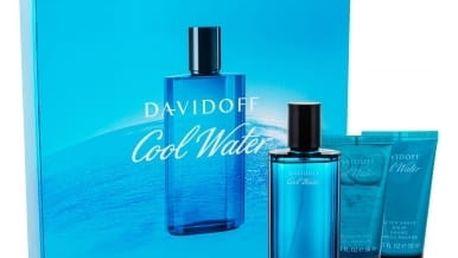Davidoff Cool Water dárková kazeta pro muže toaletní voda 75 ml + sprchový gel 50 ml + balzám po holení 50 ml
